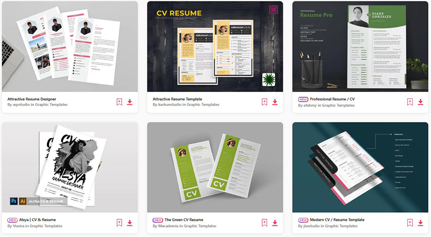 30 Attractive Eye Catching Resume Cv Templates With Stylish