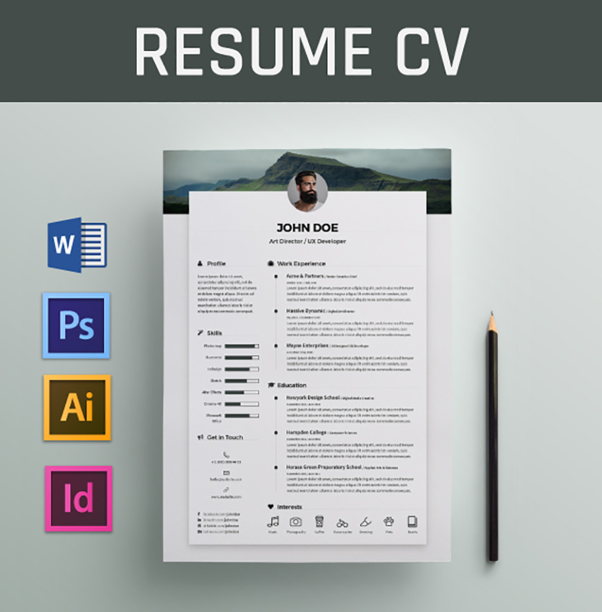 22 Free Minimalist Resume Templates Word Indesign More Cv Designs