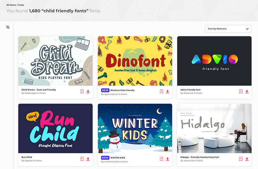 Child Handwriting Fonts From Envato Elements