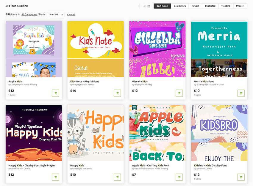 GraphicRiver Fun Fonts for Kids