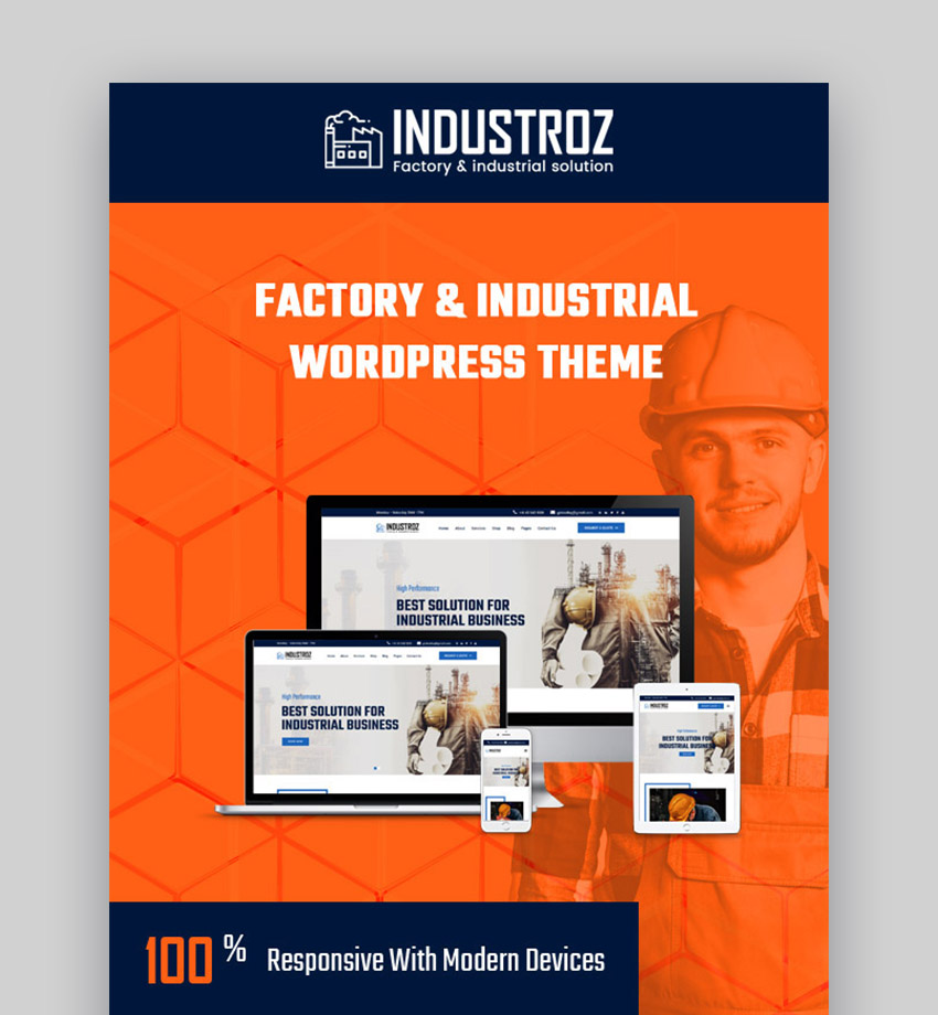 Industroz Industry WordPress Theme