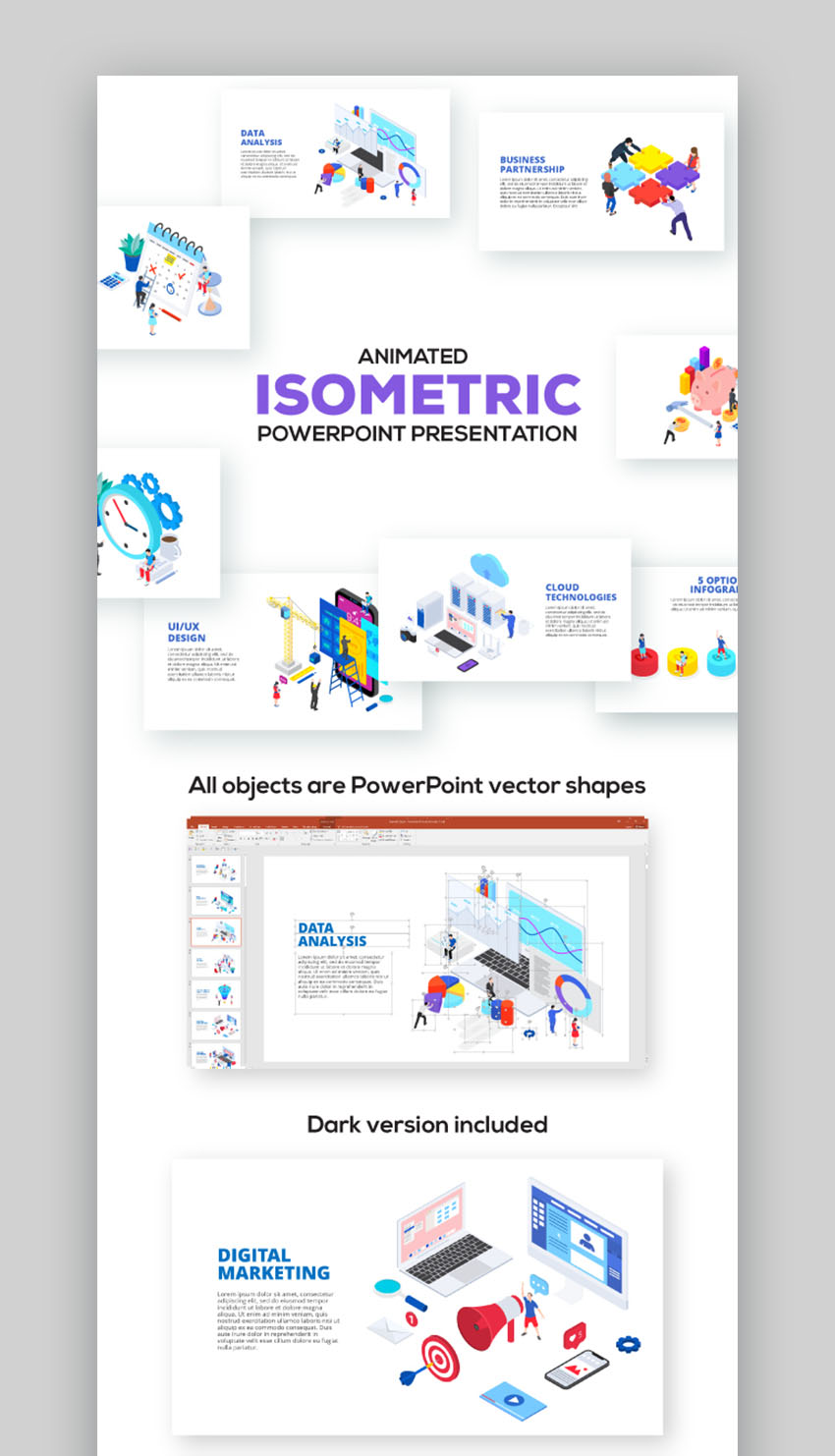 Isometric Good PowerPoint Presentations