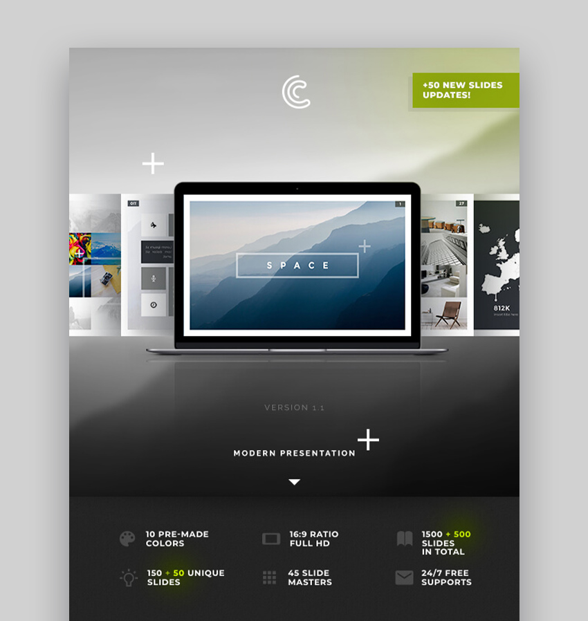 Space Best Presentation PowerPoint Templates