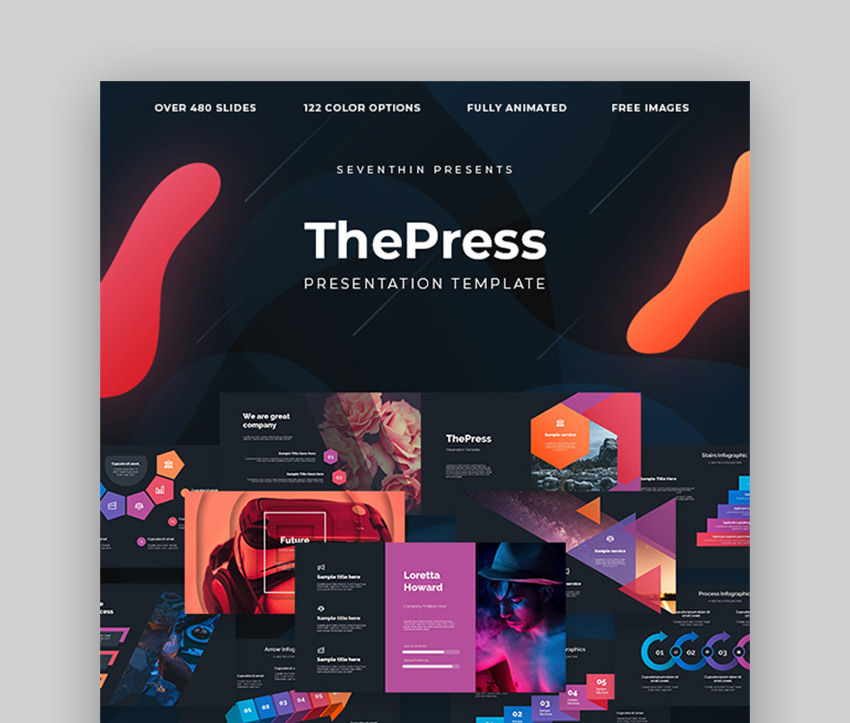 ThePress Animated PowerPoint Template