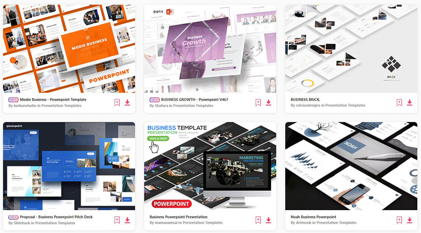 Business Presentations on Envato Elements