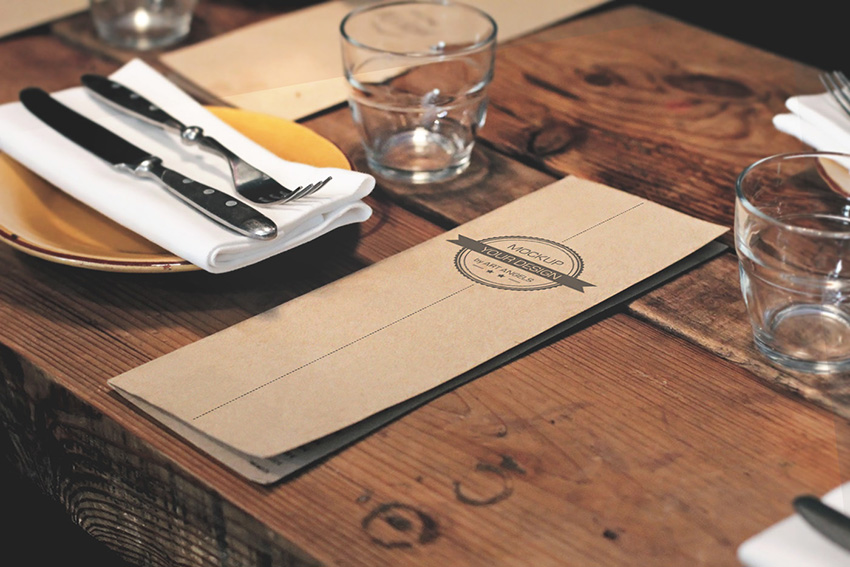 Restaurant Table Mockup