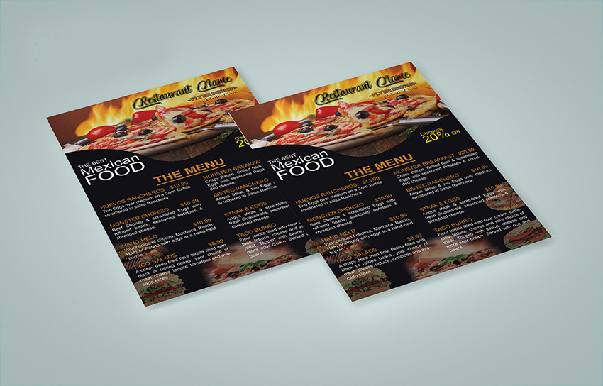 Food Mockup PSD Free