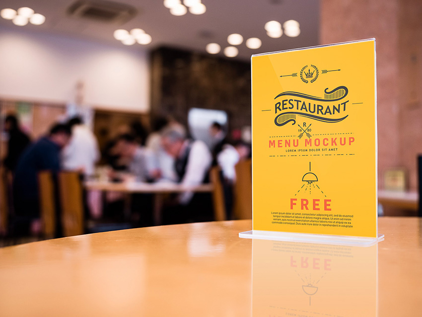 Restaurant Table Mockup Menu