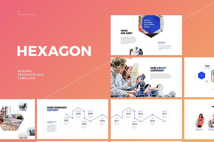 Hexagon PowerPoint Sales Presentation