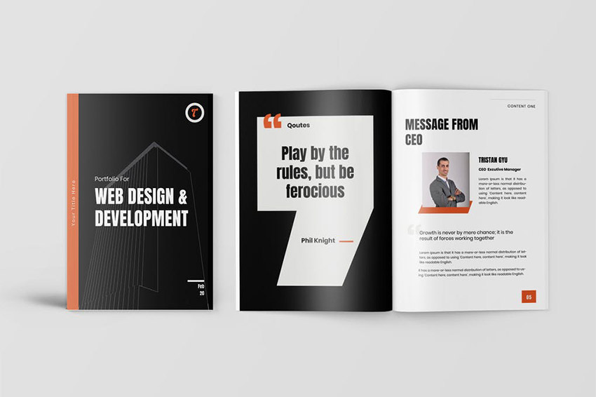 Alona Great Typography Business Proposal Template