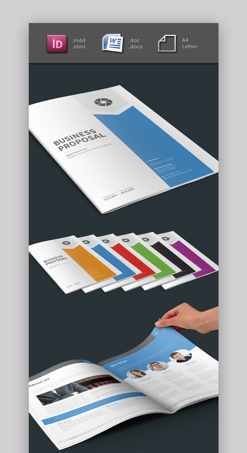 Mimin Small Business Proposal Template Word