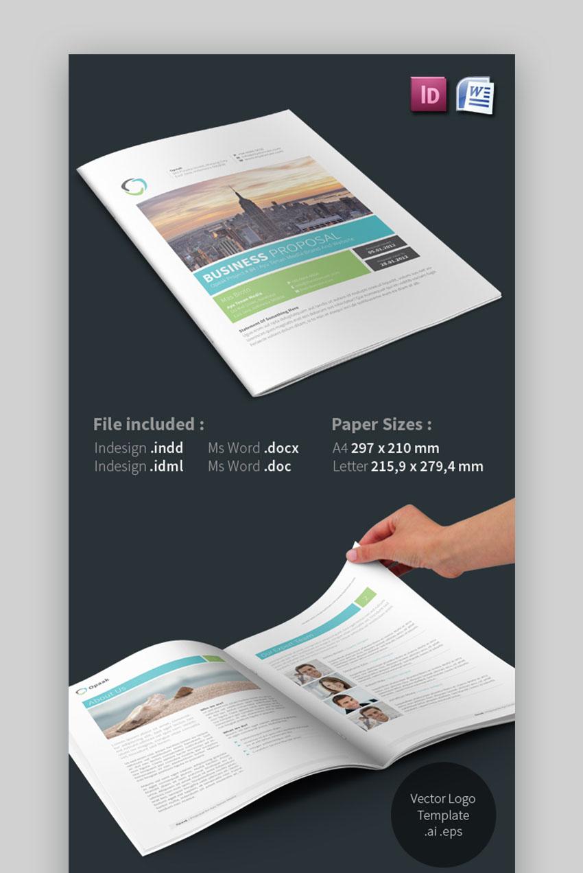 Opaak Business Proposal Microsoft Word Template