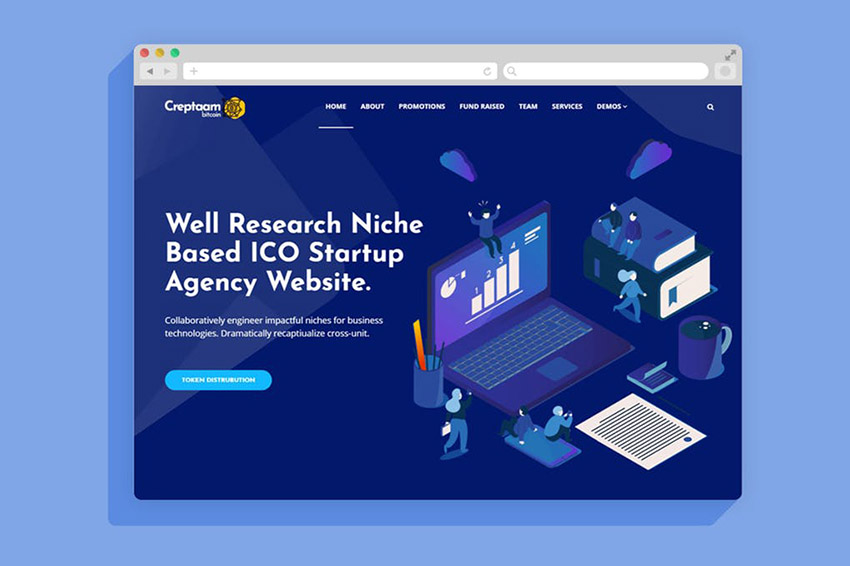 Creptaam WordPress Landing Page Theme