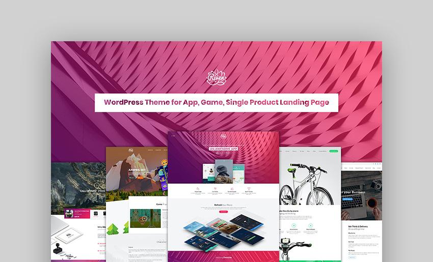 Riven WordPress Landing Page Theme