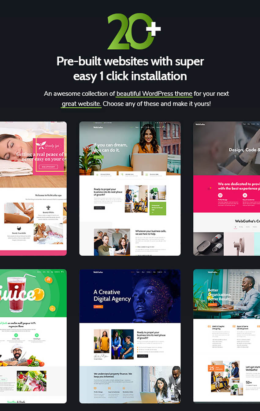 WebGatha Inspiration Responsive WordPress Theme