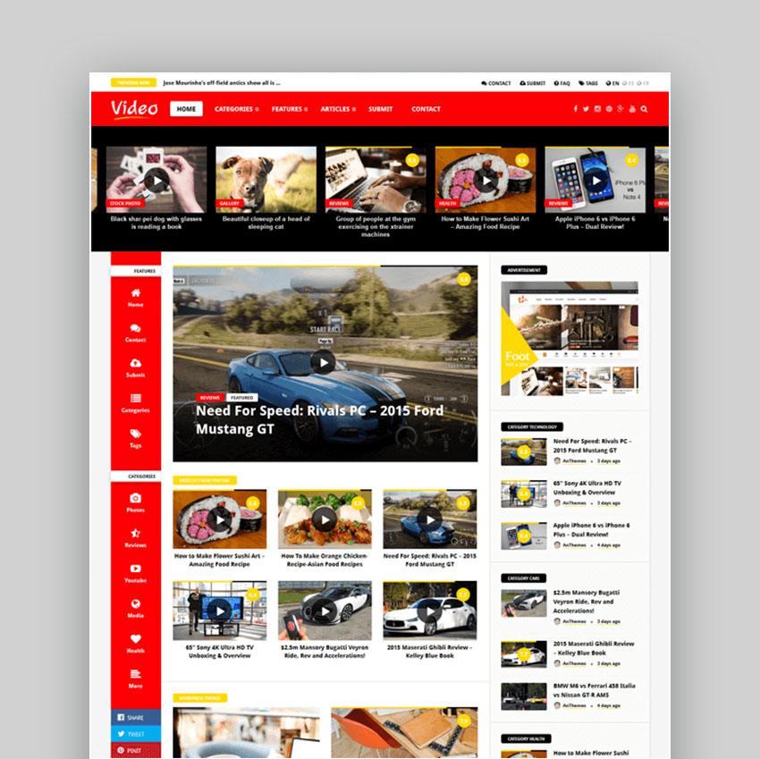 Video News Video Elements WordPress Theme