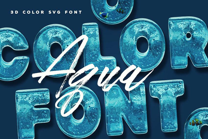Aqua SVG Color Font