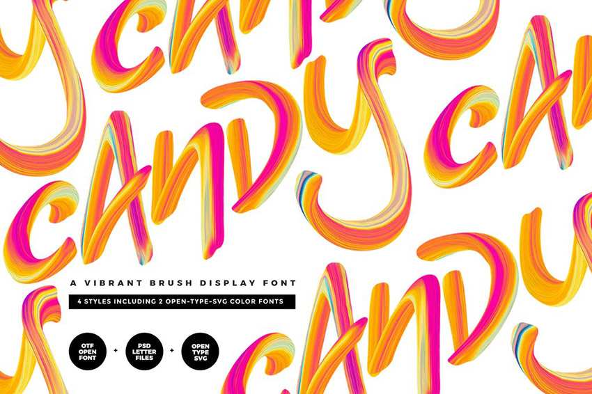 Candy SVG Color Font