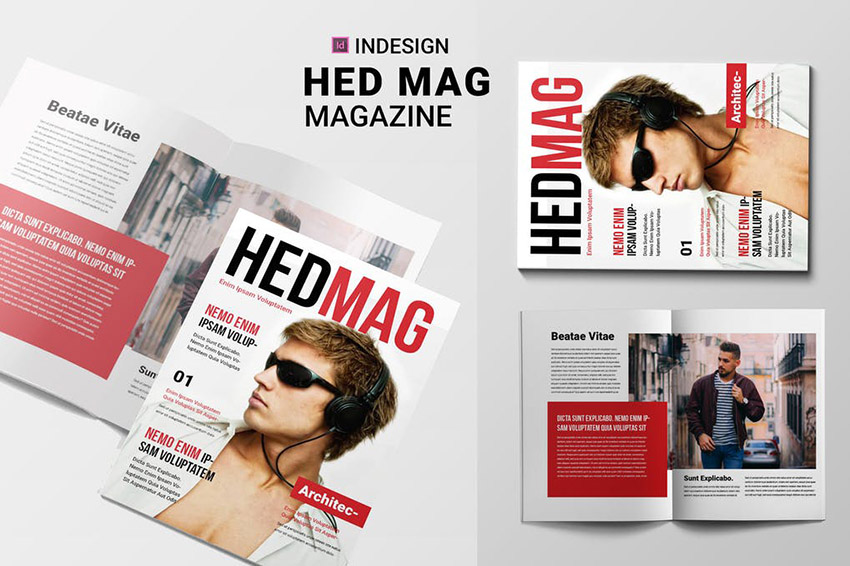 Hed Mag Magazine Cover and Layout