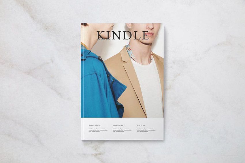 Kindle Magazine Template Cover