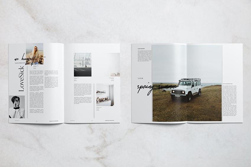 Madelynn Minimal Magazine Spread Design