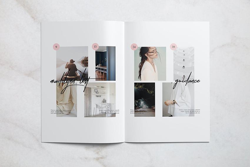 Madelynn Minimal Magazine Spread