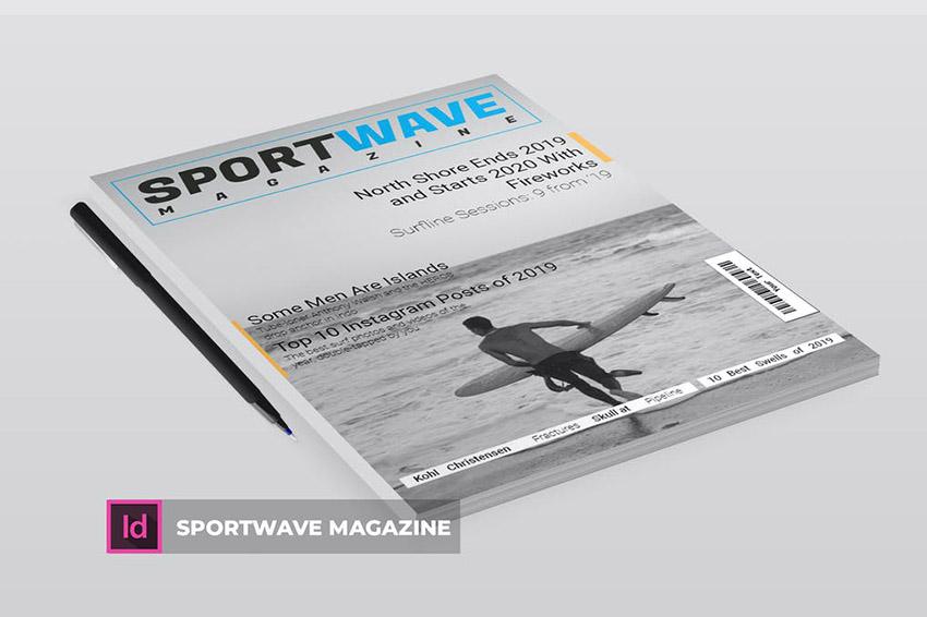 Sportwave Magazine Cover Design