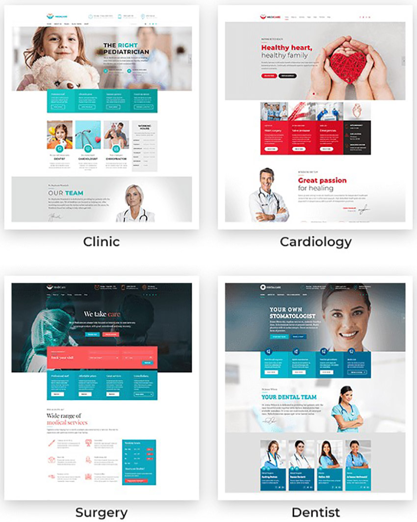 Medicare Colorful Medical Cure Health and Medical WordPress Theme
