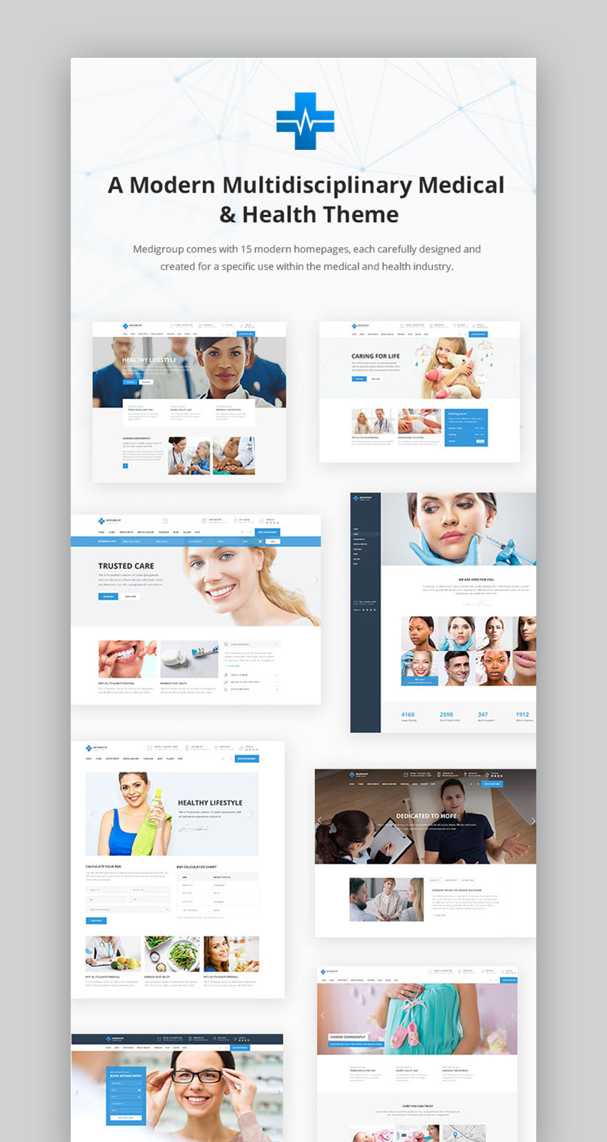 Medigroup Doctor Appointment WordPress Theme