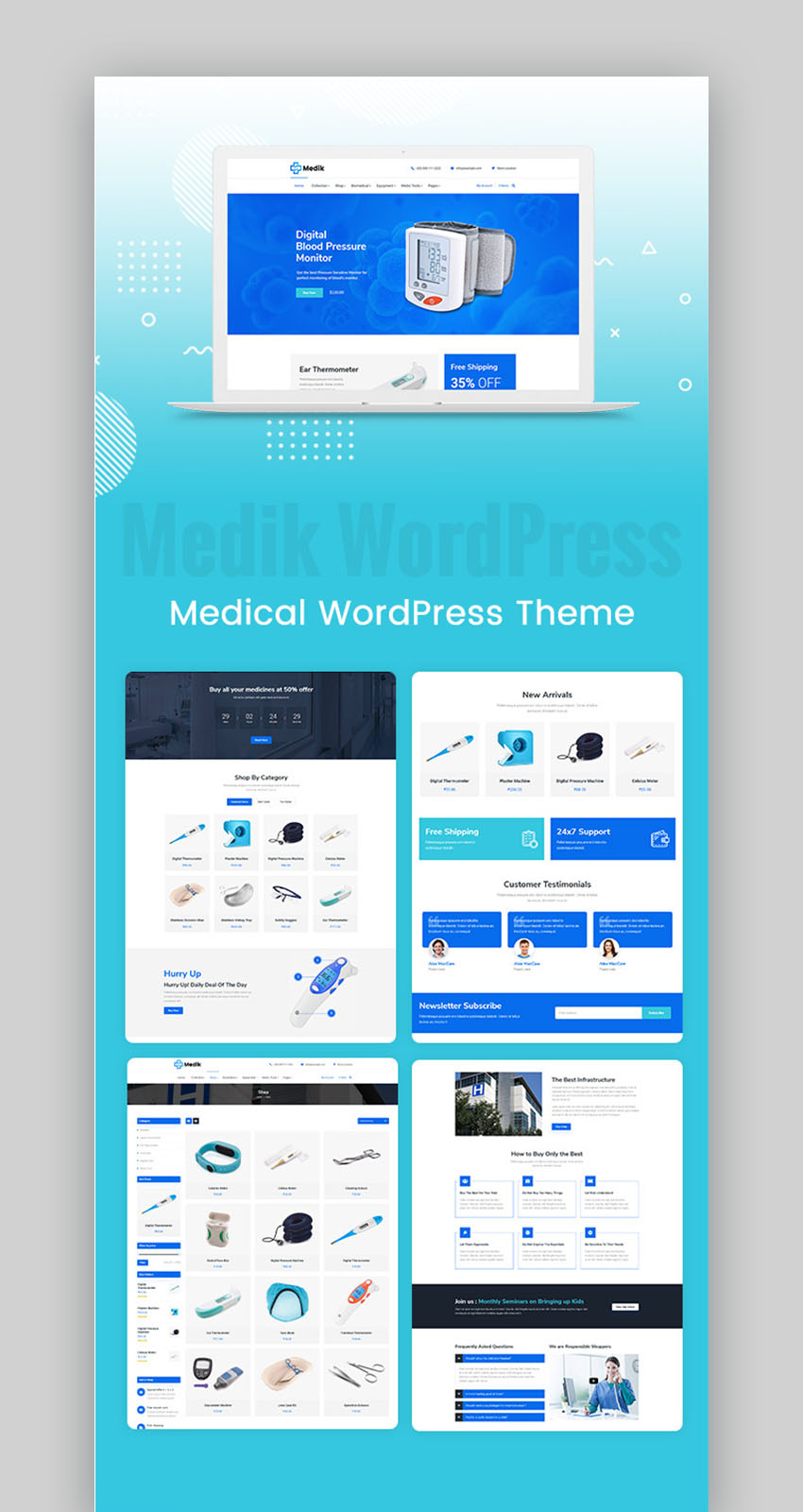 Medik Medical Cure Health And Medical WordPress Theme
