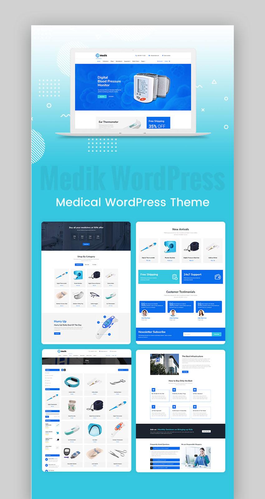 Medik Medical Cure Health And Medical Wordpress Theme