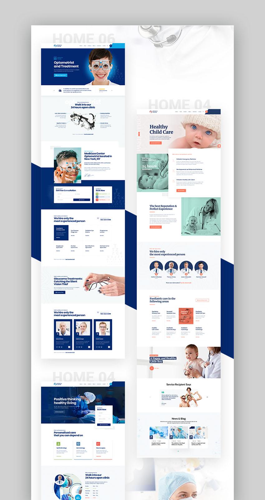 Medizco Health Center Theme
