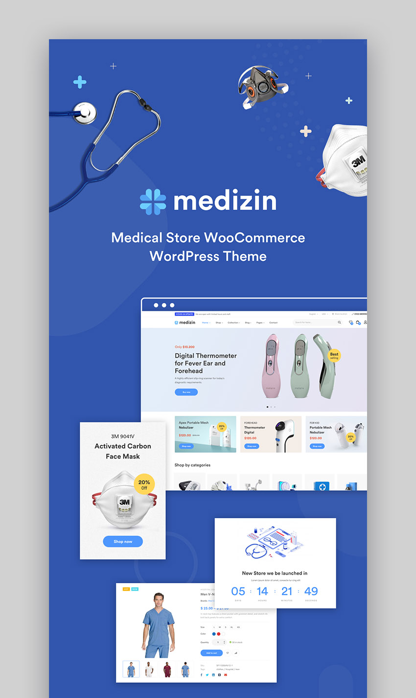 Medizin Medical Cure Health and Medical WordPress Theme