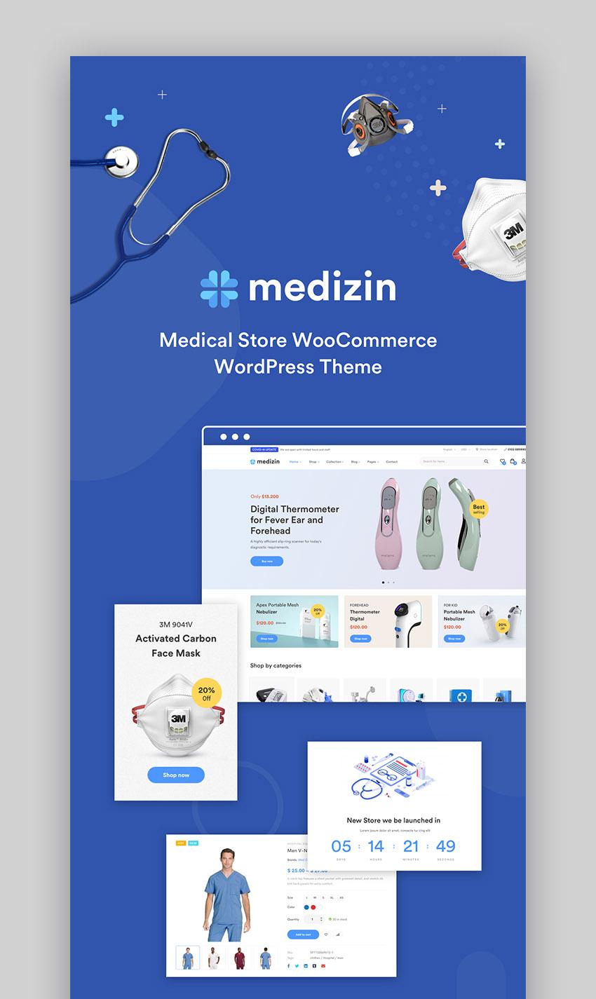 Medizin Medical Cure Health and Medical Wordpress Theme