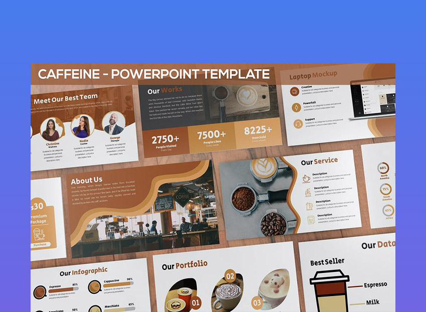 Caffeine Coffee Theme For PowerPoint