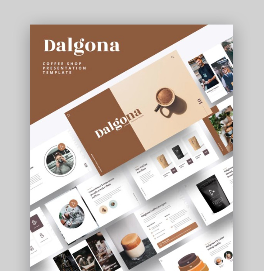 Dalgona Coffee Shop PPT