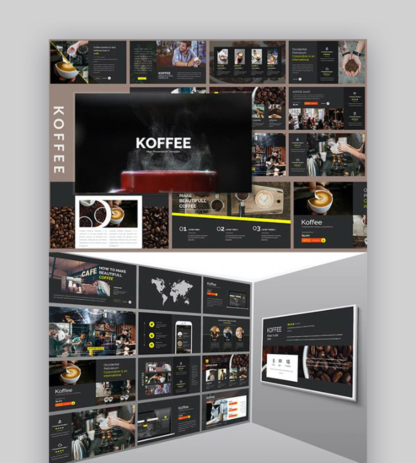 Koffee Corporate PowerPoint Coffee Theme