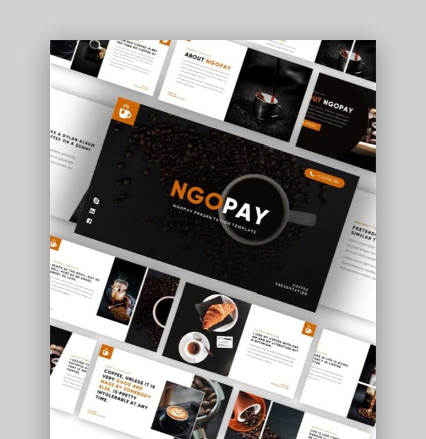NGOPAY Coffee Google Slides Theme