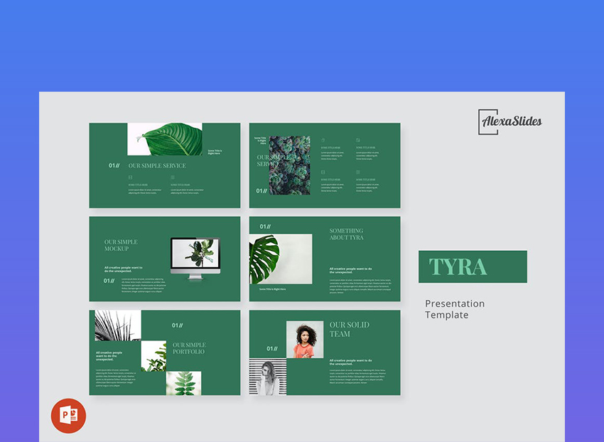 Tyra Nature Theme PowerPoint