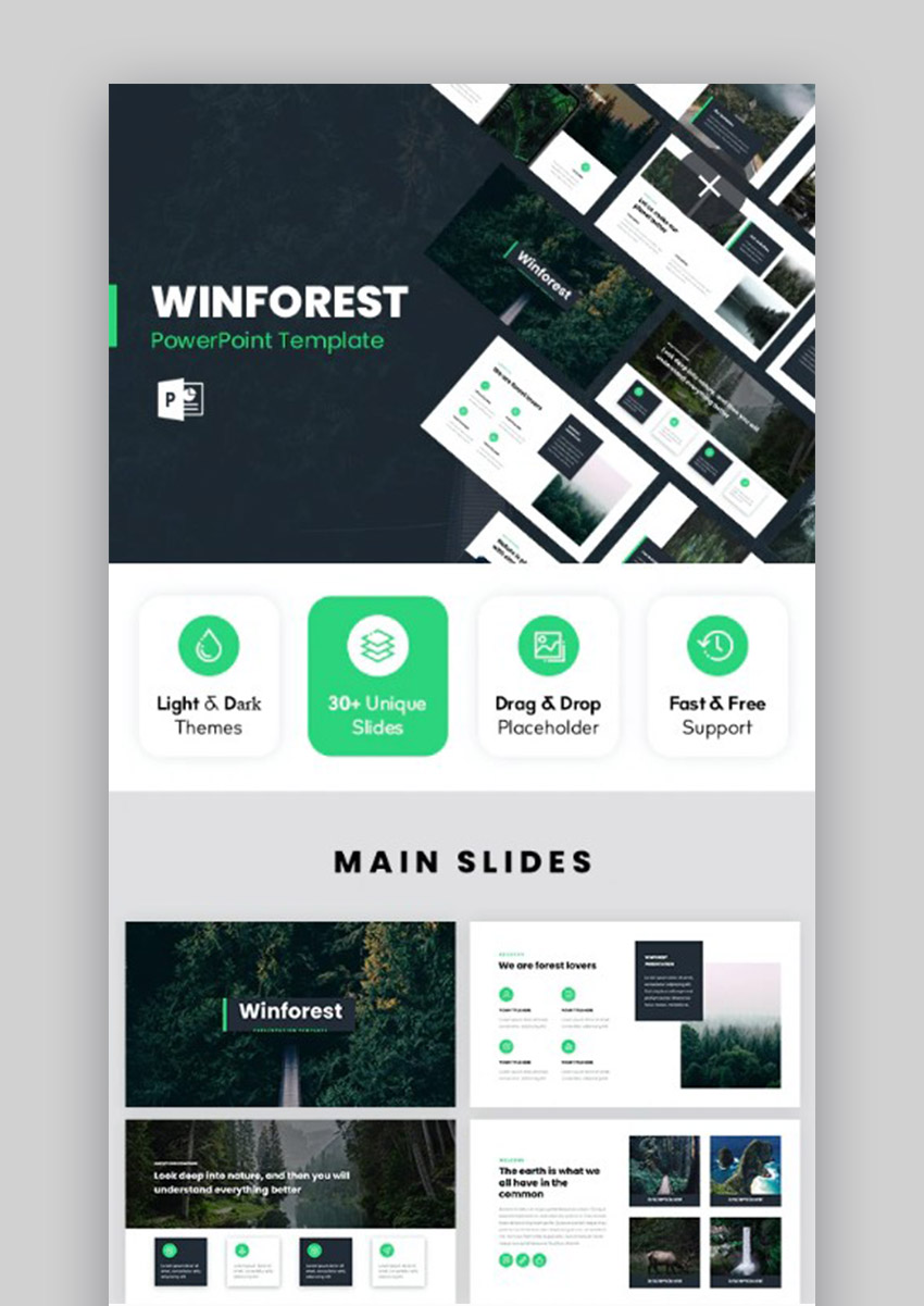 WinForest Nature Theme PowerPoint