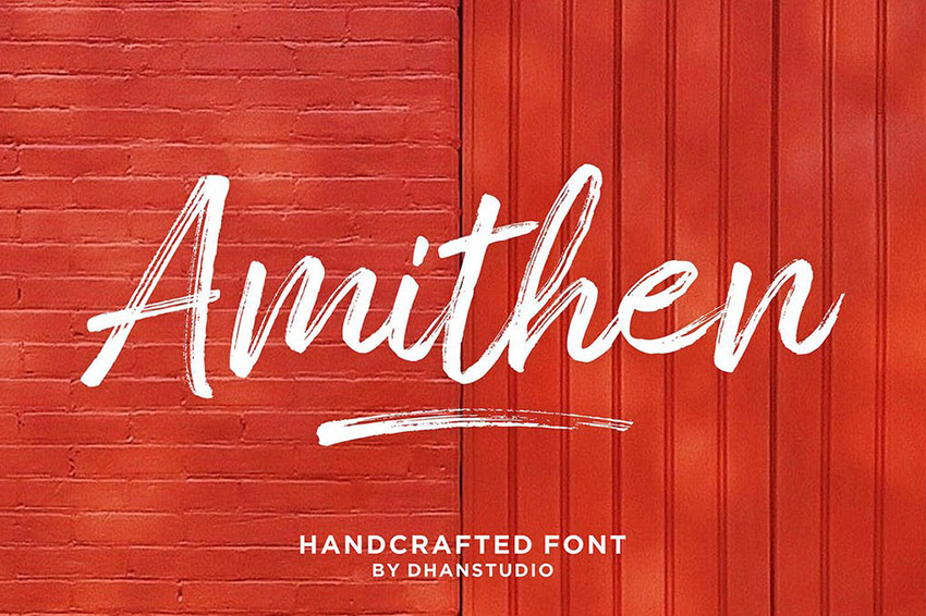 Amithen Brush Sign Lettering Font
