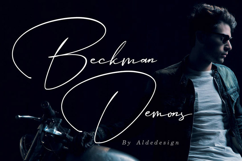 Beckman Demons Signature Sign Lettering Font