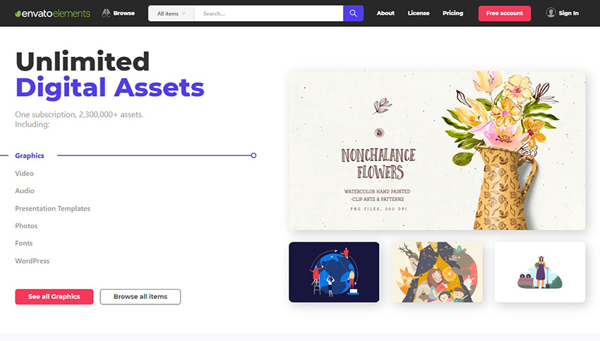 Design Without Limits Unlimited Digital Assets Envato Elements