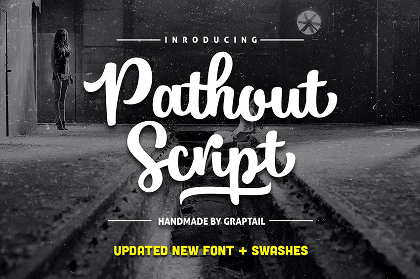 Pathout Script Lettering Design