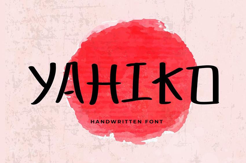 Yahiko Playful Handwritten Font