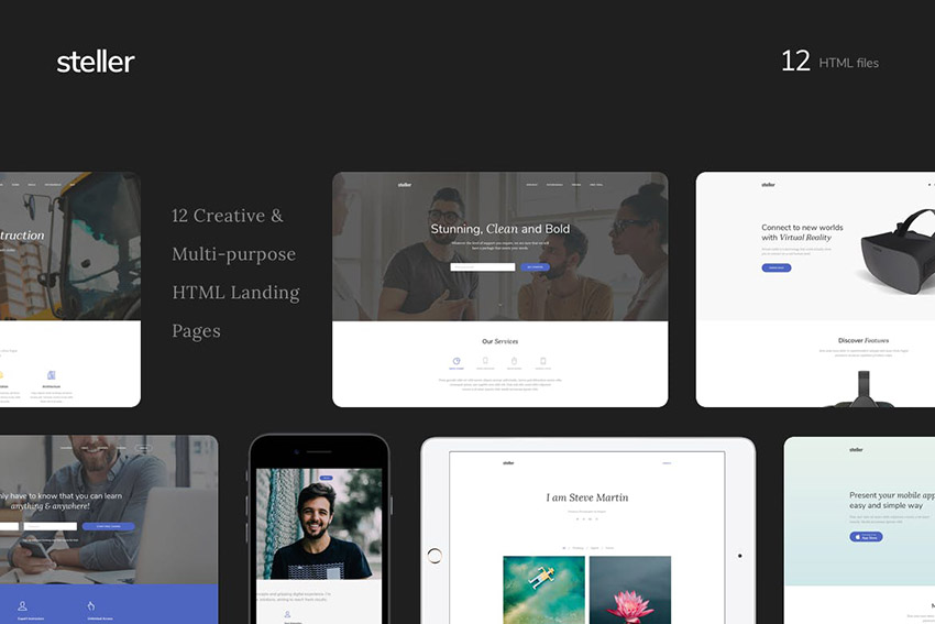 Steller Simple Text Book Landing Page