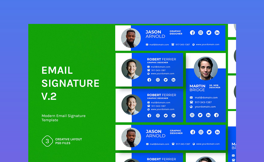 Email Signature v2 Email Footer Template