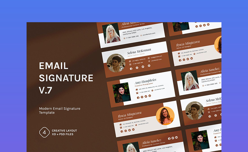 Email Signature v7 Email Footer Template
