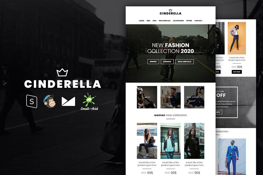 Cinderella Company Newsletter Email Template