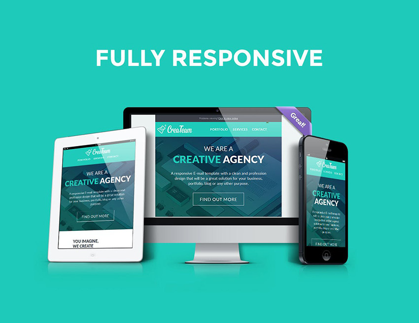 CreaTeam Company Newsletter Email Template